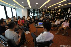 More than 20 people from Japanese and Singaporean Media gathered for the Media Talk